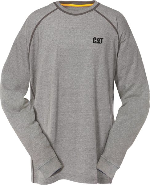 Picture of Perfomance L/S Tee - Heather Grey