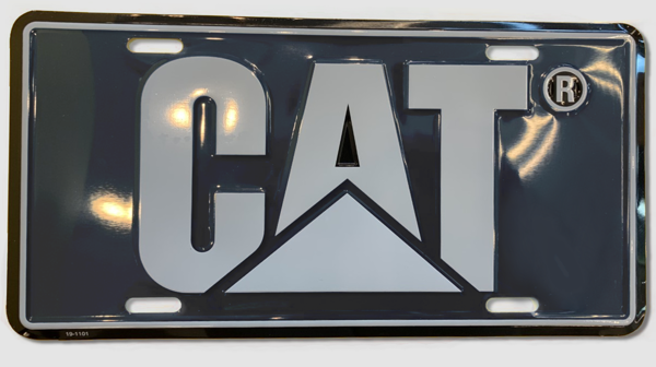Picture of CAT License Plate - Black/Silver