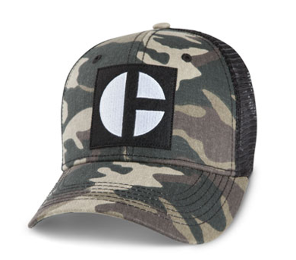 "Picture of Camo Black ""C"" Mesh Cap"